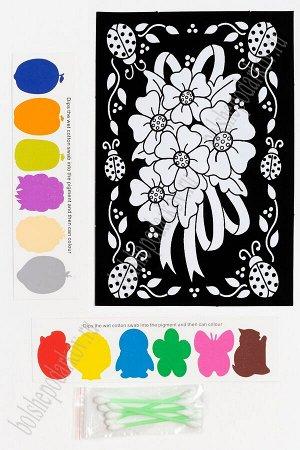 Раскраска бархатная с красками 15,3*22,8 см (SF-5671) №1