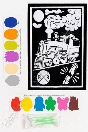 Раскраска бархатная с красками 15,3*22,8 см (SF-5671) №3