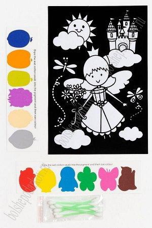 Раскраска бархатная с красками 15,3*22,8 см (SF-5671) №4