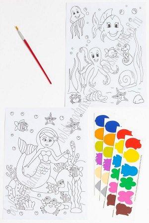 Раскраска с красками 19,5*26 см (2 листа) SF-5666, №2