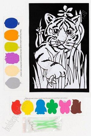 Раскраска бархатная с красками 15,3*22,8 см (SF-5671) №5