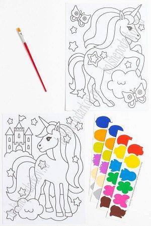 Раскраска с красками 19,5*26 см (2 листа) SF-5666, №4