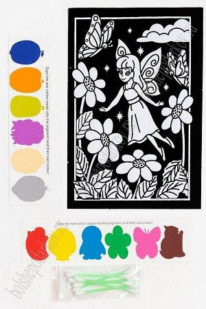 Раскраска бархатная с красками 15,3*22,8 см (SF-5671) №6