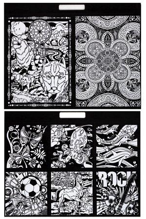 Раскраска-альбом бархатная с фломастерами (32 картинки) SF-5672