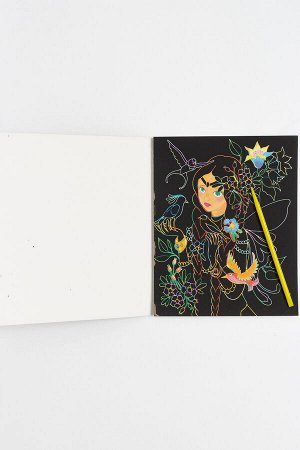 Альбом скретч-картина+раскраска 14,5*18 см (10 листов) SF-5669, №1