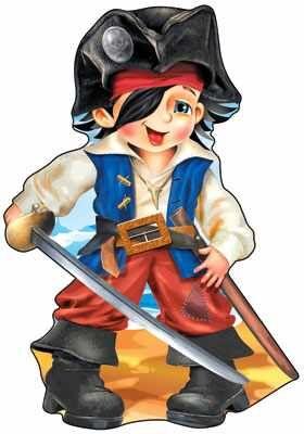 Плакат вырубной А3. Пират...
