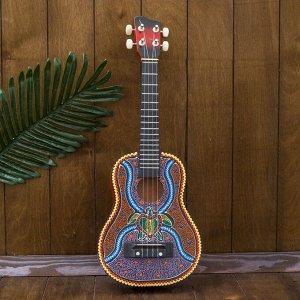 "Музыкальный инструмент гитара-укулеле ""Черепашка"" 55х20х6 см"