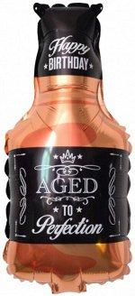 """180592, В0592 Шар-фигура/ мини фольга, """"Бутылка виски"""" (Falali), 16""""/41 см, с клапаном"""