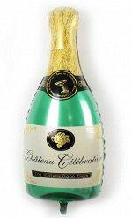 "R6714 Шар-фигура, фольга, ""Бутылка шампанского"" (Falali), 39""/97 см"