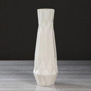 """Ваза настольная """"Линда"""". цвет белый. 31 см. керамика"""