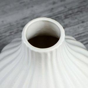 """Ваза настольная """"Инжир"""". геометрия. белая. 22 см. керамика"""