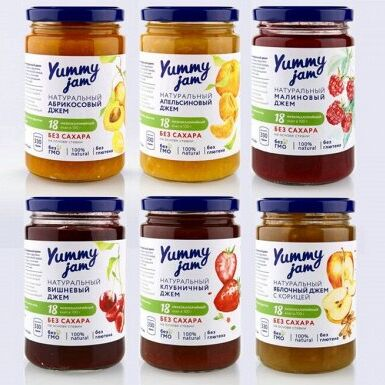 ✔Бакалея ✅ Скидки❗❗❗Огромный выбор❗Выгодные цены🔥 — Низкокалорийные джемы Yummy Jam — Диетическая бакалея