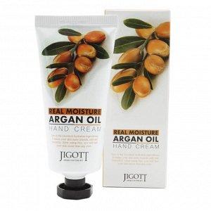"""280771 """"Jigott"""" Увлажняющий крем для рук с аргановым маслом 100 мл 1/100"""