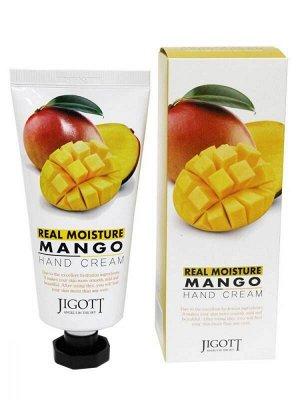 """280795 """"Jigott"""" Увлажняющий крем для рук с экстрактом манго 100 мл 1/100"""