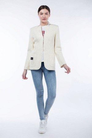 Пальто Цвет: Молочный Материал: Трикотаж Длина рукава: 62 Длина изделия:64
