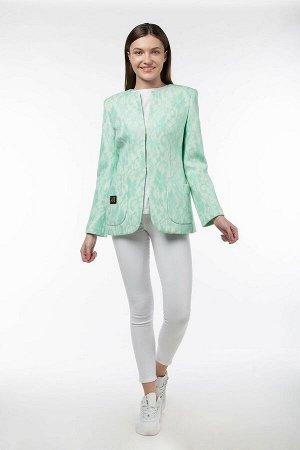 Пальто Цвет: Мята Материал: Трикотаж Длина рукава: 62 Длина изделия:64