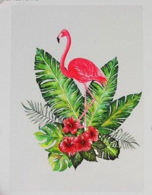Термотрансфер Фламинго в кустах 20*30см