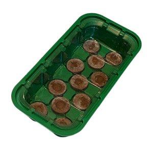 Мини-парник для рассады с крышкой (11 таблеток d-33 мм)