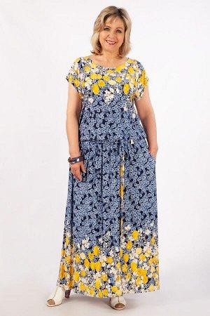 Платье джинс/цветы,  сирень/цветы,  голубой/цветы,   черный/цветы синие, цветы красные, джинс/цветы серые,  тюльпаны на синем, . джинс/синий.  Восхитительное женское платье, выполнено из лёгкого, стру