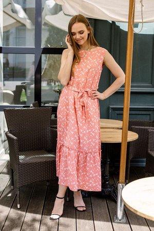 Платье Платье Pur Pur 01-708/1  Состав: Вискоза-100%; Сезон: Лето Рост: 170  Легкое и воздушное платье, в комплекте пояс из основной ткани.
