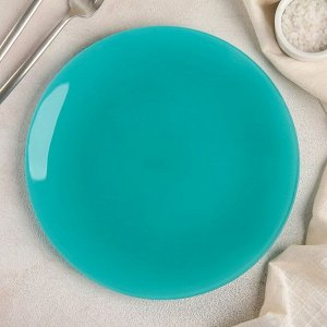 Тарелка, d=24 см, бирюзовая