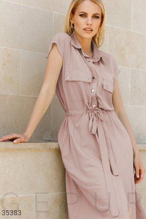 Свободное платье бежевого оттенка
