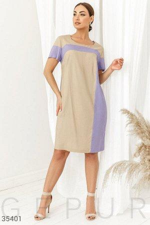 Комбинированное платье свободного кроя