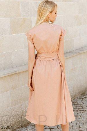 Платье-миди базового цвета