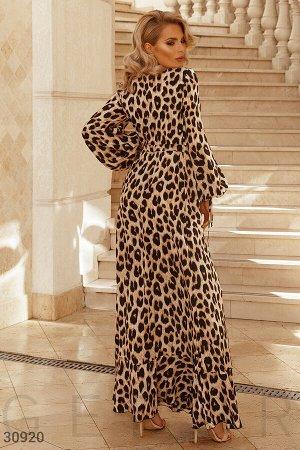 Платье-макси с хищным принтом