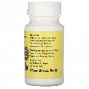 ChildLife, Зубная паста в таблетках, Натуральный ягодный вкус, 500 мг, 60 таблеток