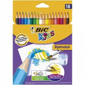 Карандаши цветные BIC Kids Aquacouleur Коробка x18