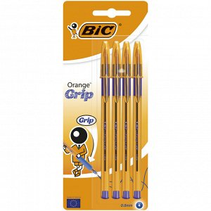 Ручка шариковая BIC Orange Grip Блистер x4 синий