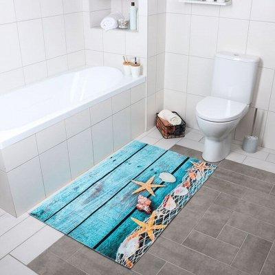 Красивая и удобная ванная: Мебель, смесители, аксессуары — Коврики для ванны и туалета