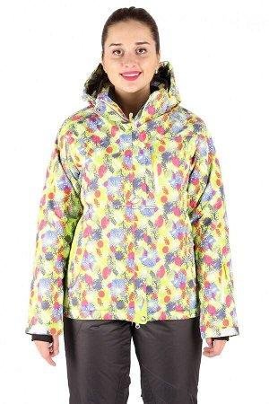 Куртка горнолыжная женская желтого цвета 15020J