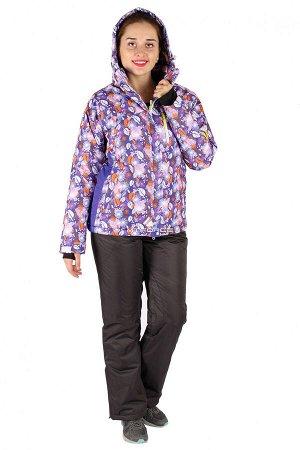 Женский зимний костюм горнолыжный фиолетового цвета 015020F