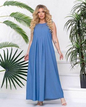 Летнее платье из денима Шарлотт  (голубой)
