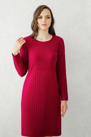 Платье вязаное 4147 К  Вишневый