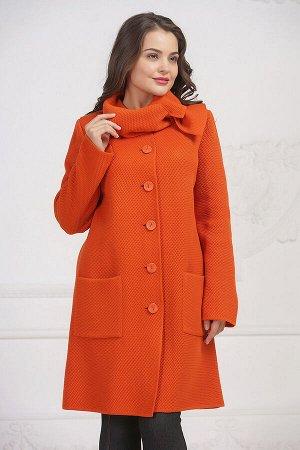 Пальто 3302 К (без подкладки)  Оранжевый