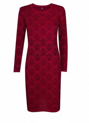 Платье вязаное 4151 К  Вишневый черный