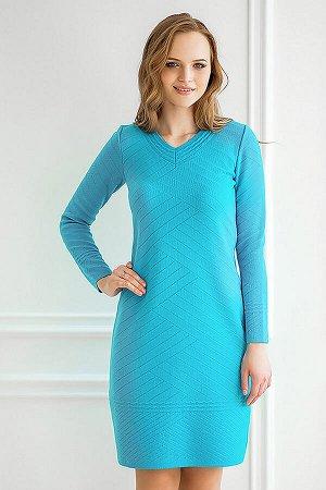 Платье вязаное 4159 К  Темно-бирюзовый