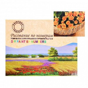 Картина по номерам на холсте «Рыжие цветы в корзине» 40х50 см