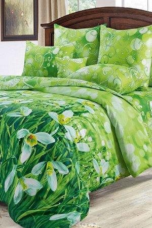 Комплект постельного белья КПБ 008 сатин (Подснежники)