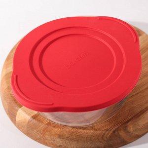 Кастрюля для запекания круглая Borcam, 840 мл, с крышкой