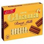 Шоколад ГАНА Экселент топлёное молоко, набор 4,6г х26шт, Lotte, 119,6гр.