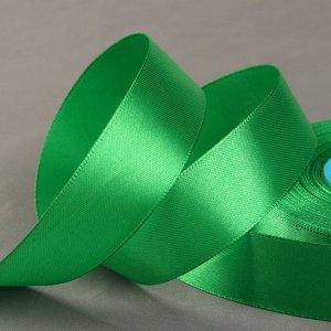 Лента атласная, 25 мм ? 33 ± 2 м, цвет зелёный №134