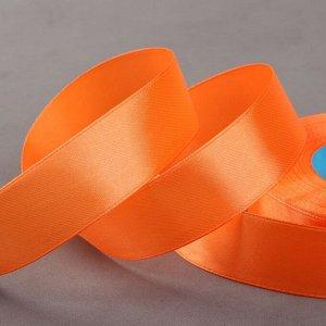 Лента атласная, 25 мм ? 33 ± 2 м, цвет оранжевый №023