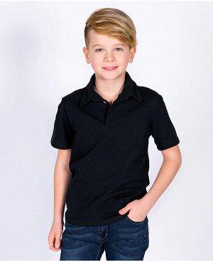 Черная рубашка-поло для мальчика Цвет: черный