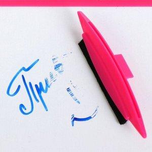 Доска белая для рисования А4 (29 * 21.5 см), двухсторонняя, в комплекте с маркером, в картонном дисплее, МИКС х 3 цвета, deVENTE