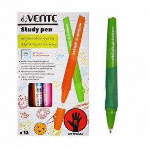 Ручка обучающая для правши deVENTE Study Pen, узел 0.7 мм, каучуковый держатель, чернила синие на масляной основе