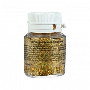 Декоративные блёстки LU*ART Lu*Glitter (сухие), 20 мл, палочки, голографическое золото